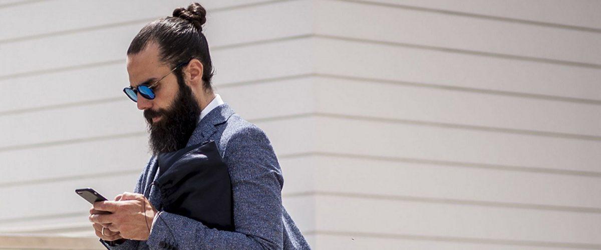 Подбираем мужской пучок: 25 фото причесок