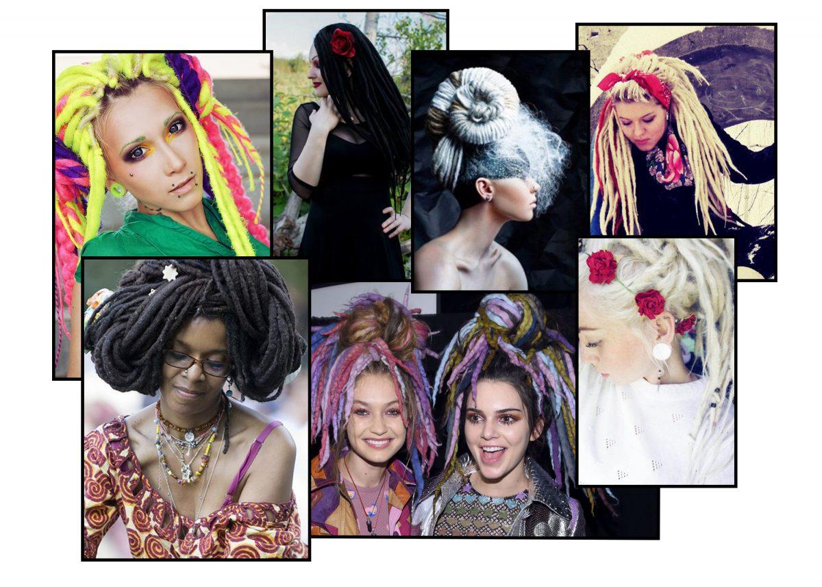 Дреды женские: основная информация +140 фото идей