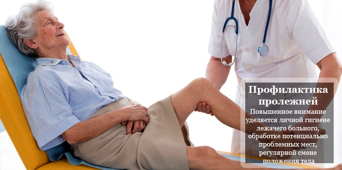 Профилактика пролежней у больных после инсульта