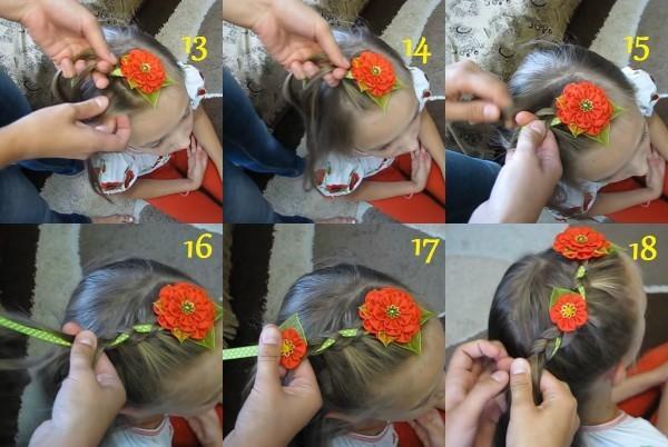 100 причесок из косичек для девочек с пошаговыми фото