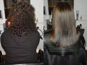 Выпрямление волос после завивки