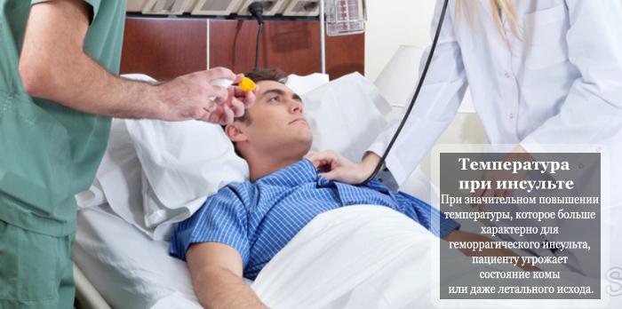 Опасность температуры при инсульте