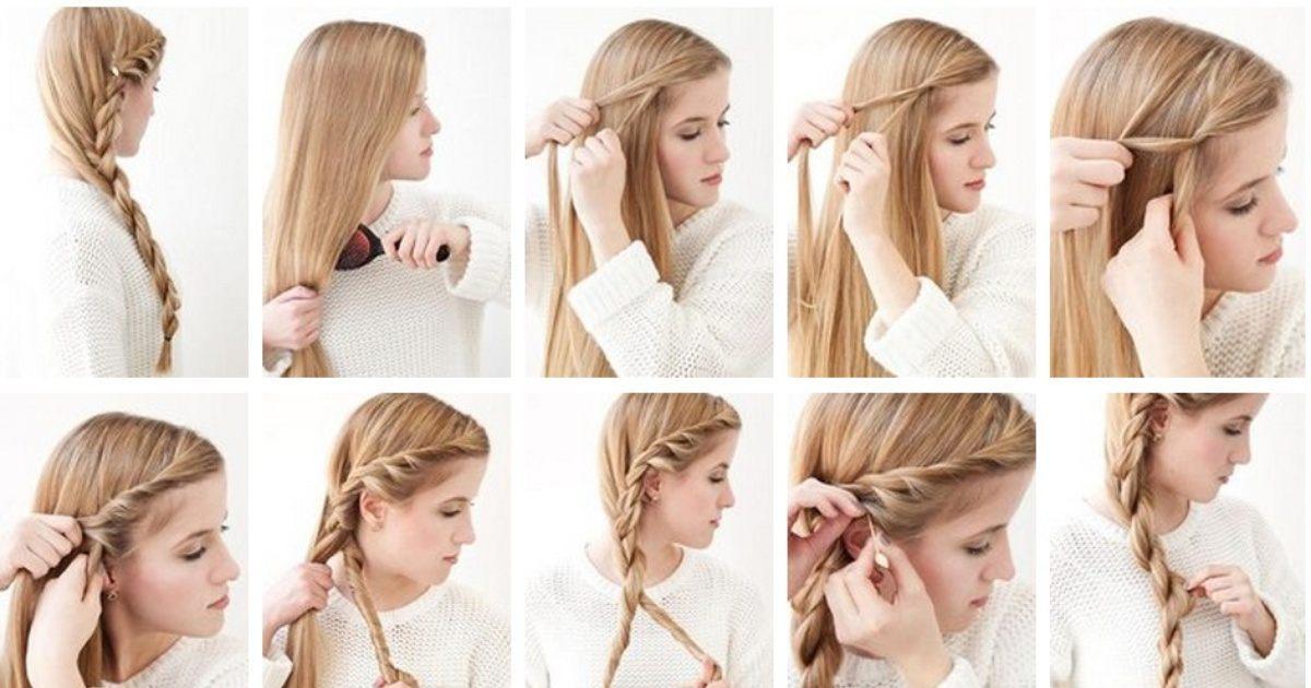 Как заплести косу на бок самой себе: 12 способов с пошаговыми фото