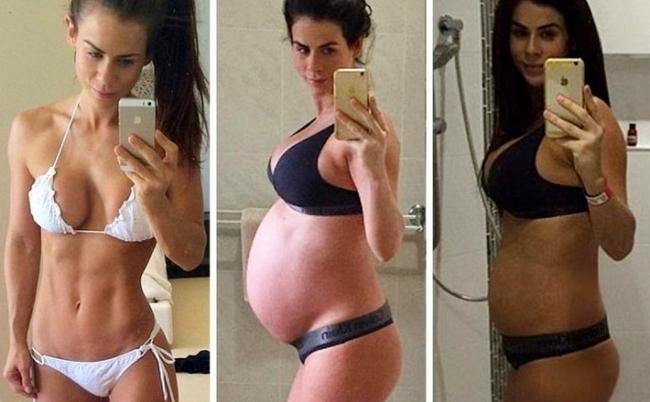 Как изменяется фигура женщины до и после родов (живот, грудь, бедра, вес)
