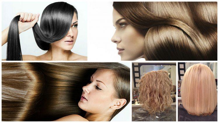 Ровные и блестящие волосы с помощью процедуры биовыпрямления