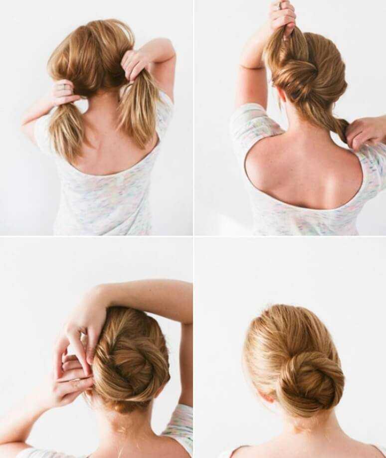 Делаем пучок на короткие волосы: 25 простых способов