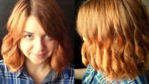 Локоны на волосы средней длины