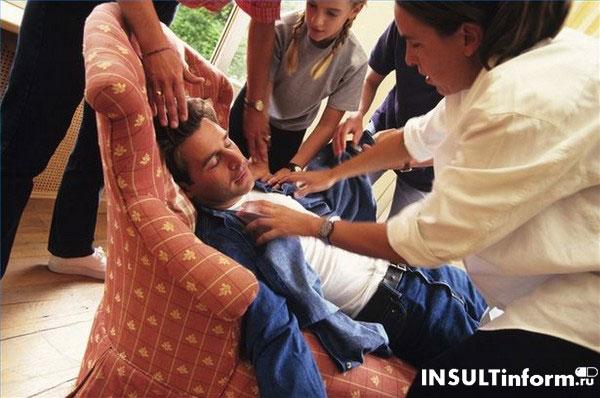 Доврачебная помощь при инсульте у мужчины
