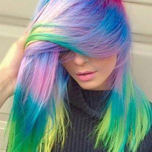 Разноцветные волосы