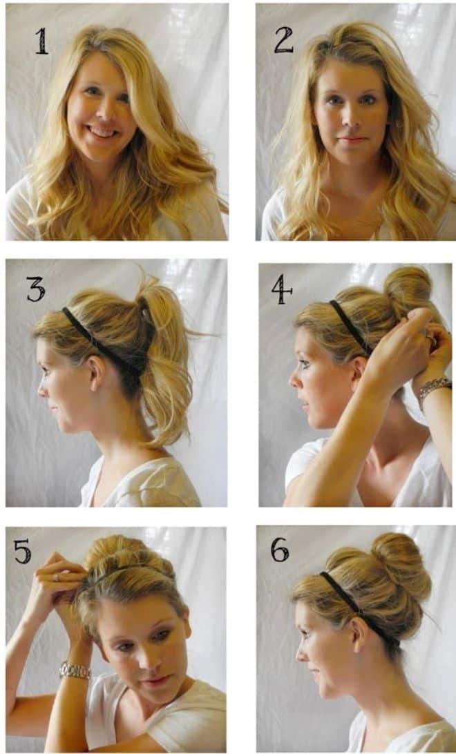 Как сделать пучок с помощью бублика: более 25 идей с фото и видео